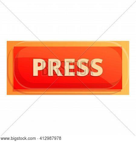 Press Interface Button Icon. Cartoon Of Press Interface Button Vector Icon For Web Design Isolated O