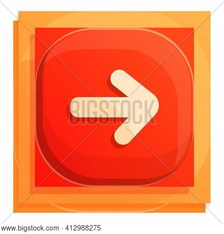 Forward Button Icon. Cartoon Of Forward Button Vector Icon For Web Design Isolated On White Backgrou
