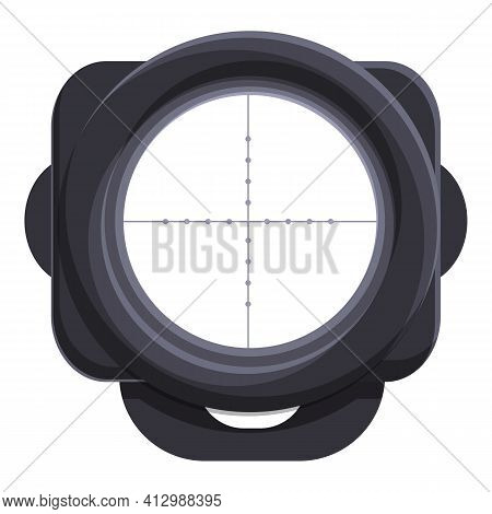 Sniper Scope Sight Icon. Cartoon Of Sniper Scope Sight Vector Icon For Web Design Isolated On White