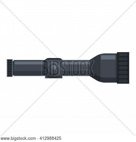 Telescopic Sight Crodd Icon. Cartoon Of Telescopic Sight Crodd Vector Icon For Web Design Isolated O