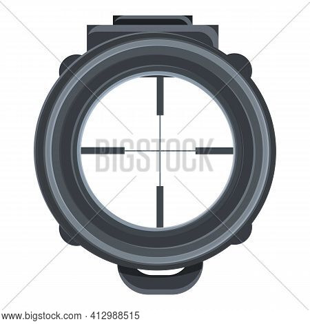 Sniper Target Icon. Cartoon Of Sniper Target Vector Icon For Web Design Isolated On White Background