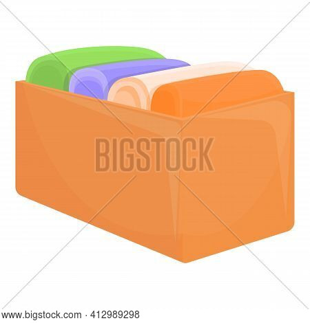 Donation Box Of Used Clothes Icon. Cartoon Of Donation Box Of Used Clothes Vector Icon For Web Desig