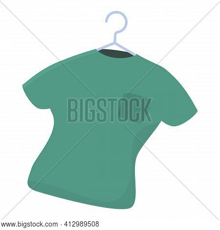 Polo Shirt Donation Icon. Cartoon Of Polo Shirt Donation Vector Icon For Web Design Isolated On Whit