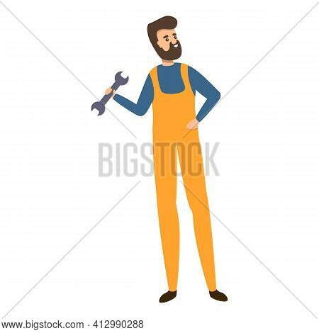 House Repair Man Icon. Cartoon Of House Repair Man Vector Icon For Web Design Isolated On White Back