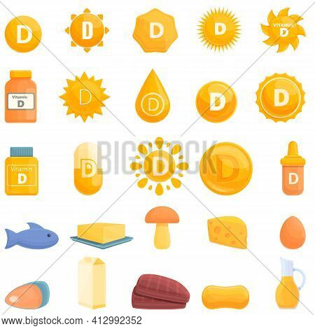 Vitamin D Icon. Cartoon Of Vitamin D Vector Icon For Web Design Isolated On White Background