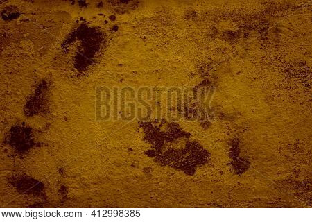 Rough Brown Cement Background. Abstract Grunge Decorative Stucco. Hiatus On Cement Wall Texture. Dir