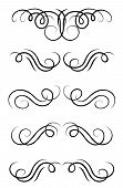 Swirl elements and retro monograms for design and decorate poster