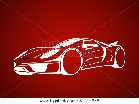 White super auto over red