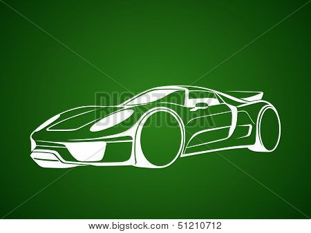 White super auto over green