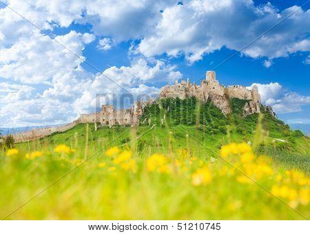 Spis Castle At Spring