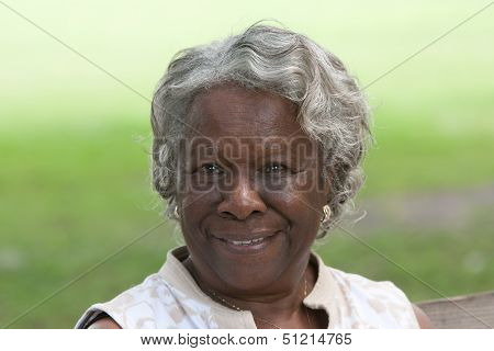 Happy Old African American Lady