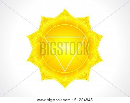 abstract detailed solar plexus chakra vector illustration poster