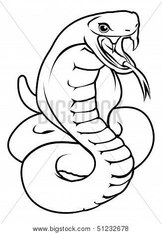 Stylised Snake Illustration