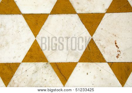 Ornamental Marble Floor  Background In Temple, India