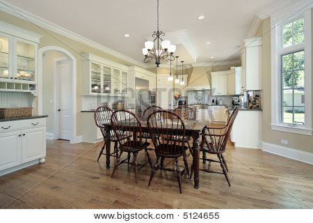 Kitchen With Eating Area And Island