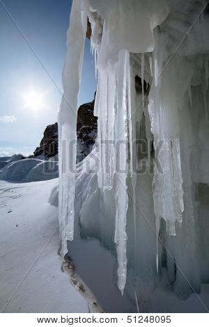 ice in lake of baikal