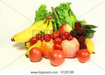 Group Of Fruits And Vegetables