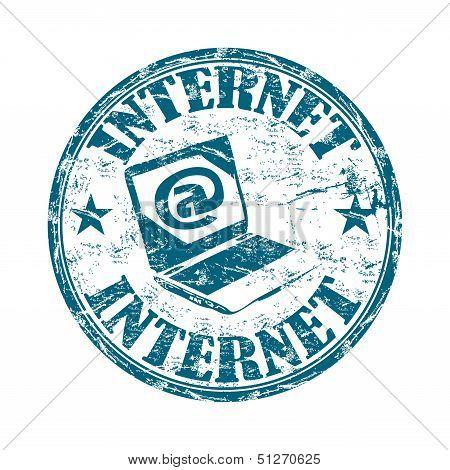 Internet grunge rubber stamp