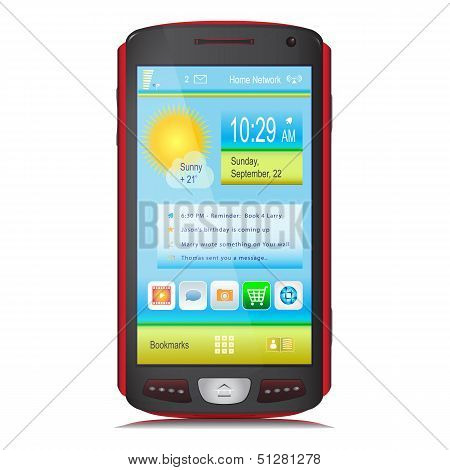 Touch Screen Mobile Device. Vector