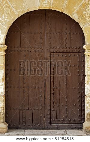 Oval Wooden Doors With Iron Fittings