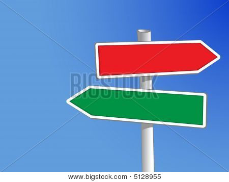 Sign Post Two Arrows (xxl)