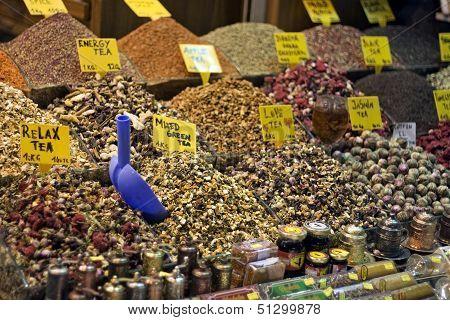 Istanbul egyptian spice market