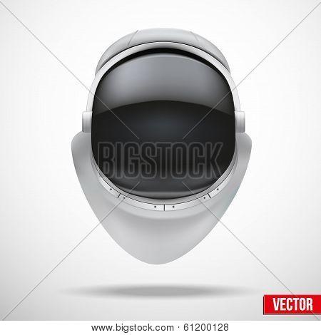 Astronaut helmet with reflection glass vector.
