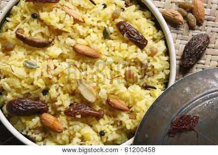 Kashmiri modur pulao from India