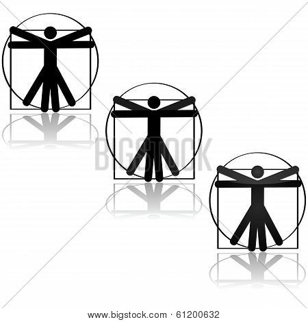 Vitruvian Icon