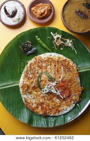 Carrot Dosa - A South Indian pancake