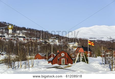 Church in Hemavan, ski resort in Sweden