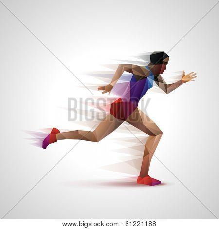 Runner, eps10 vector