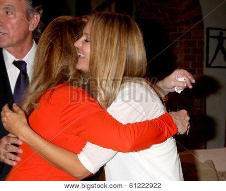 LOS ANGELES - MAR 4:  Melody Thomas Scott, Sharon Case at the Melody Thomas Scott Celebrates 35 Years at the