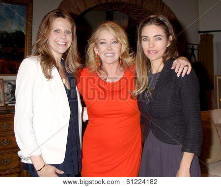 LOS ANGELES - MAR 4:  Ashley Millan, Melody Thomas Scott, Amelia Heinle as Melody Thomas Scott Celebrates 35 yrs at YnR at CBS TV City on March 4, 2014 in Los Angeles, CA