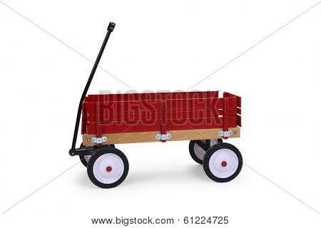 Wagon on white background