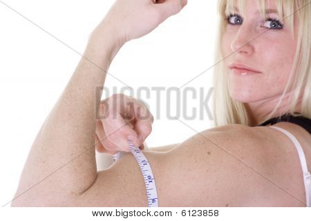 arm with tape measure