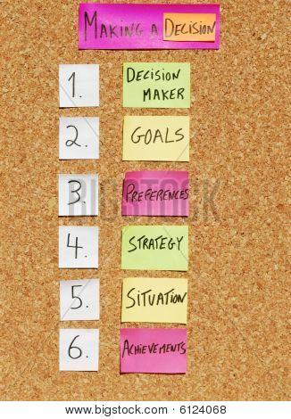 How To Make A Decision Concept