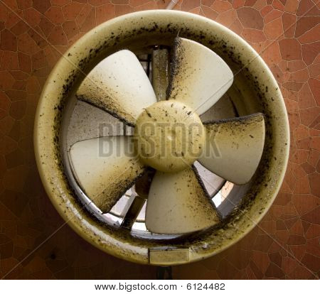 Dirty Oil Stained Exhaust Fan