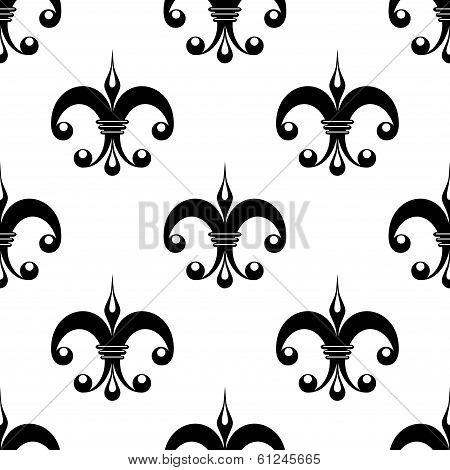 Vintage fleur de lys pattern