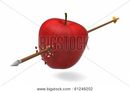 Apple was hit by arrow