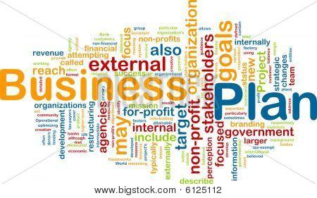 Business Plan Word Cloud