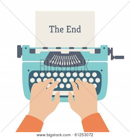 The End Of Story Flat Illustration