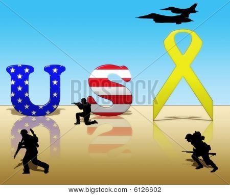 Yellow Ribbon for USA