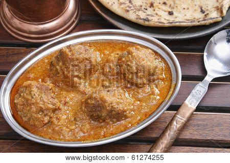 Mutton kofta curry from India