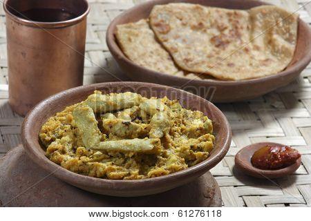 Arbi Ka Saag - A dish made from Colocasia