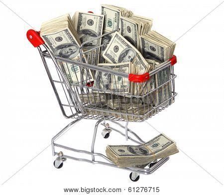 Shopping Cart Full of Cash