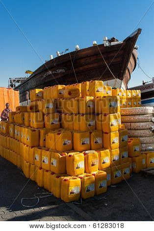 Dubai's Traditional Dhow And Cargo