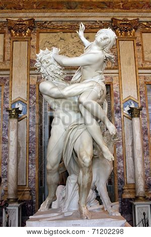 Sculpture By Gian Lorenzo Bernini, Rape Of Proserpine, Galleria Borghese, Rome, Italy