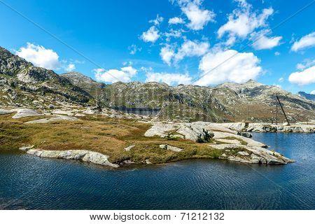Dam Of Lucendro, Gotthard Pass, Canton Of Ticino (switzerland)