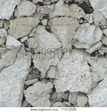 Wreckage Of Concrete - Seamless Background